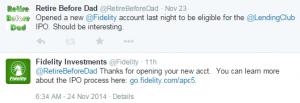 Fidelity tweet